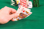 The player in poker. — Stock Photo
