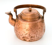 Old copper tea-pot. — Stock Photo