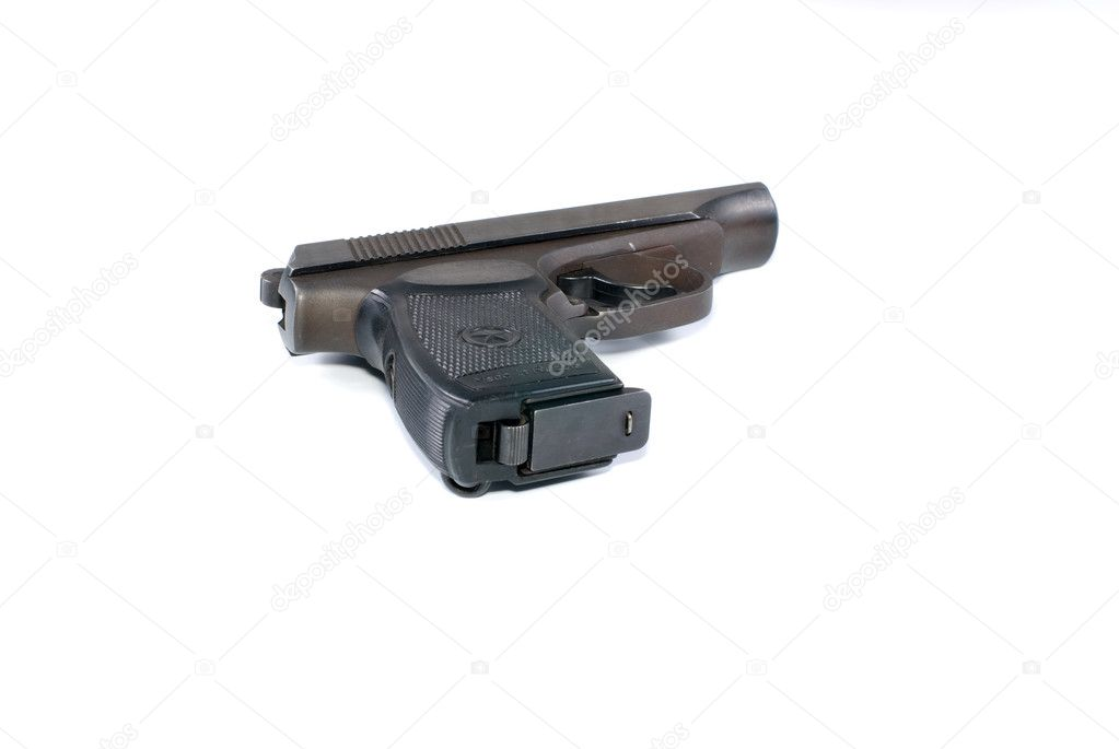 Pistol on a white background it is isolated. — Stock Photo #1032776