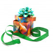 Fancy box and ribbon. — Foto de Stock