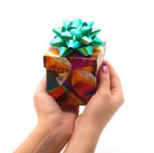 Gift in hands. — Stock Photo