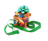Fancy box and ribbon. — Stock Photo