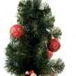 Stock Photo: Santnear to New Year tree
