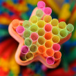Colorful straws for drinks - Stock Photo