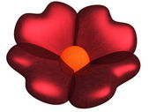 Flower with petals as hearts — Stock Photo