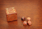 Wood dices2 — Stock Photo