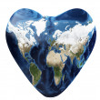 Earth as a heart — Stock Photo