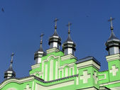 Domes of church in the sky — Stock Photo