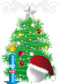 New-year fir tree — Stockfoto