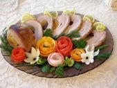 Cold baked pork — Stock Photo