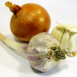 The onion and the garlic — Stock Photo
