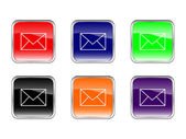 按钮邮件 — 图库矢量图片