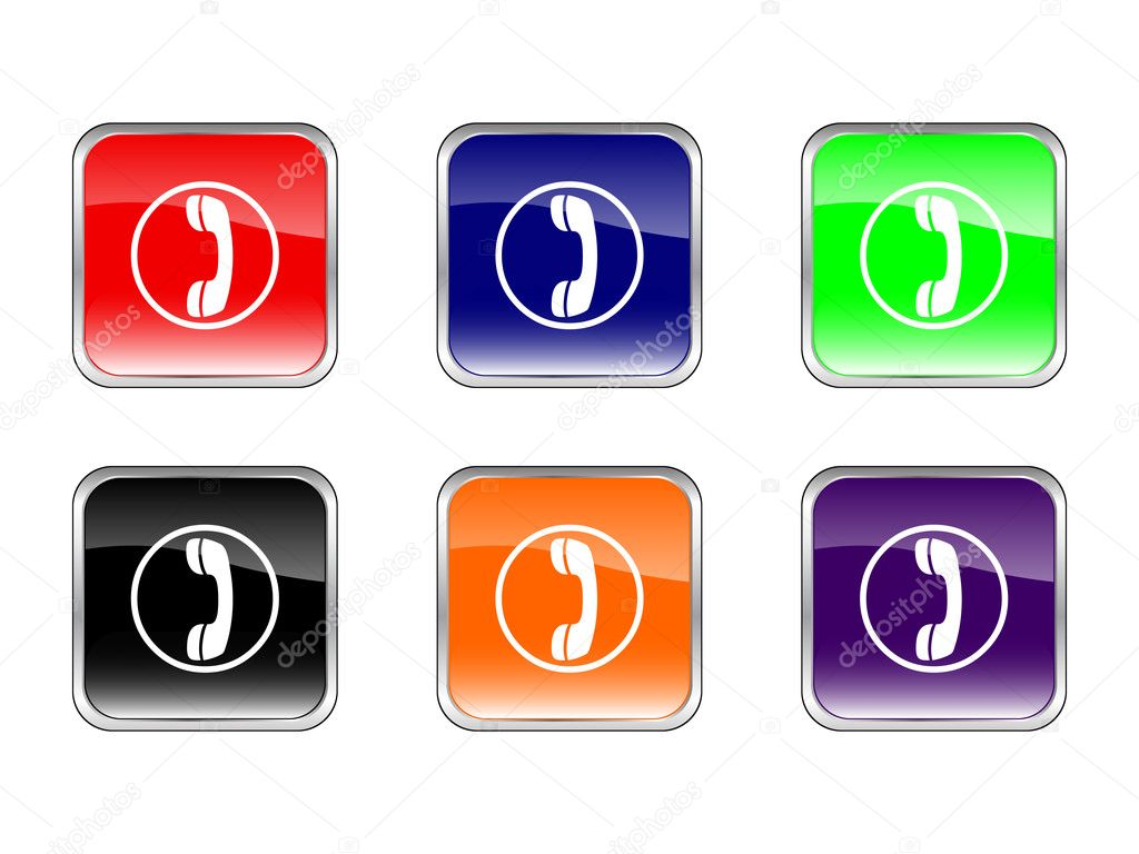 Buttons phone on a white background. Vector illustration. — Stock Vector #1842934
