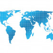 sfondo quadrati e mappa del mondo — Foto Stock