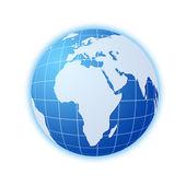 Blue world globe — Stock Photo