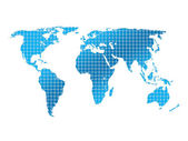 Background squares and world map — Stok fotoğraf