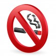 Stock Vector: 3D no smoking sign