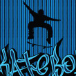 Skataboarding background blue 2 - Stockvektor