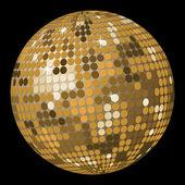 Abstrata bola de ouro — Vetor de Stock