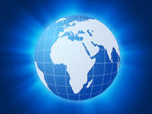Blue world globe background — Stock Photo