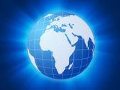 Blue world globe background — Stock Photo