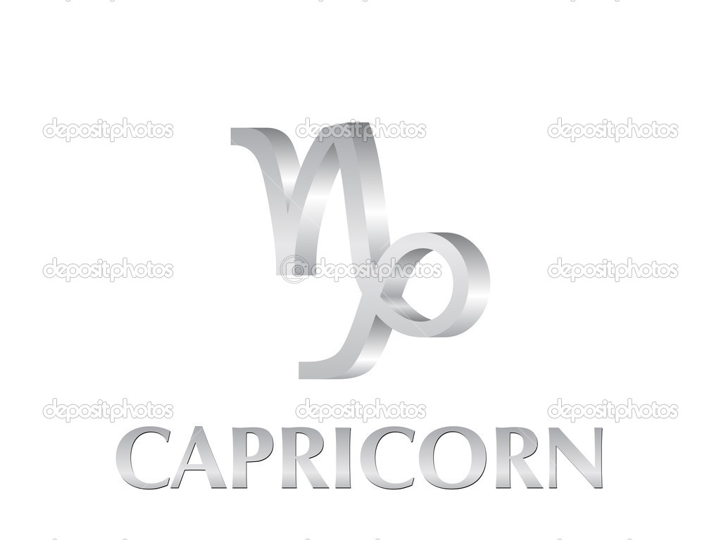 Astrological symbol of sign capricorn. Vector illustration.  Stock Vector #2022635