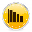 Stockvector : Diagram yellow circle icon