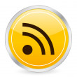 Rss yellow circle icon — Imagen vectorial