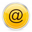E-mail yellow circle icon — Stock Vector