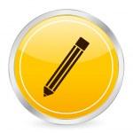 Pencil yellow circle icon — Stock Vector #2055378
