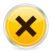 Cancel yellow circle icon — Stock Vector
