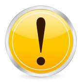 Icône de point d'exclamation jaune circle — Vecteur