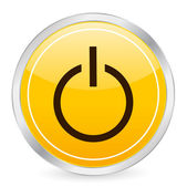 Power yellow circle icon — Stock Vector