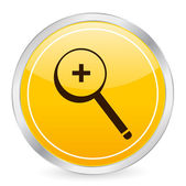 Zoom in yellow circle icon — Stock Vector