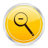 Zoom out yellow circle icon — Stock Vector