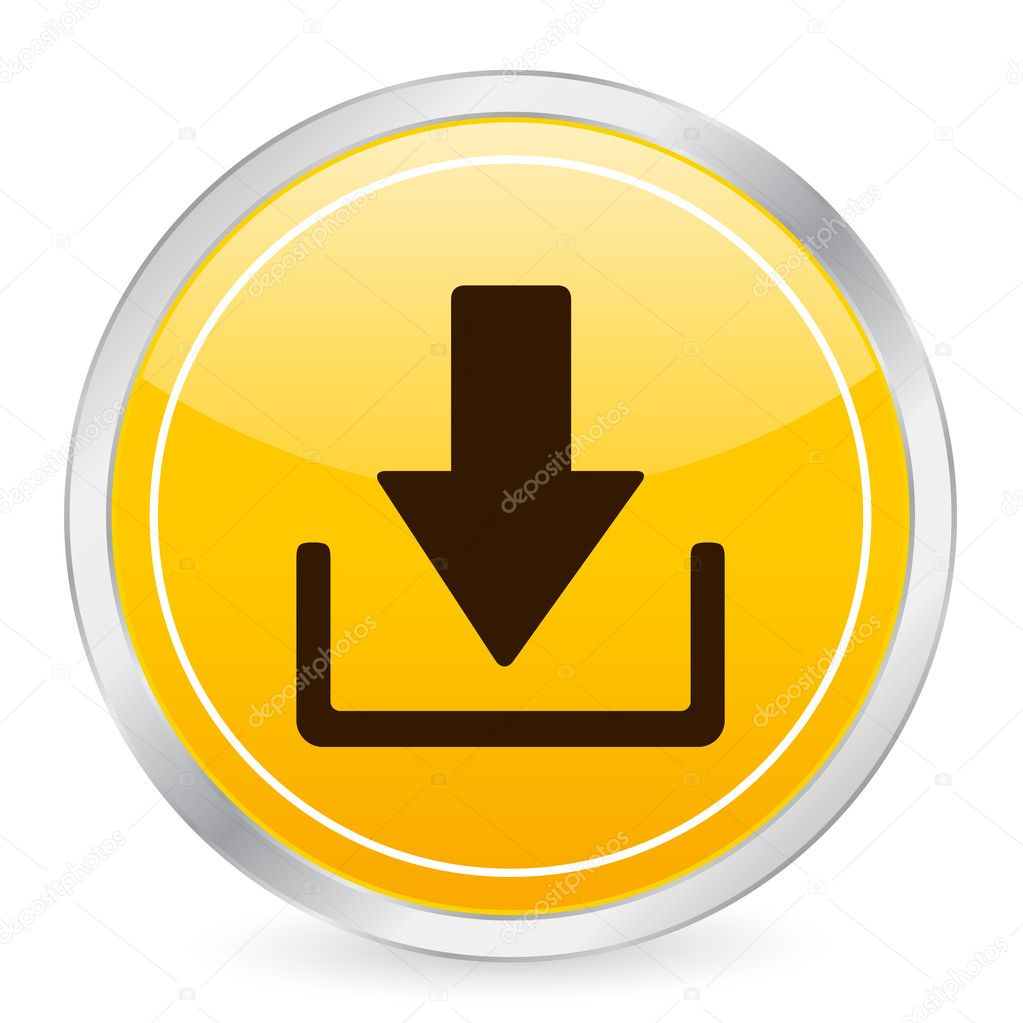 Download yellow circle icon on a white background. Vector illustration. — Stock Vector #2055293