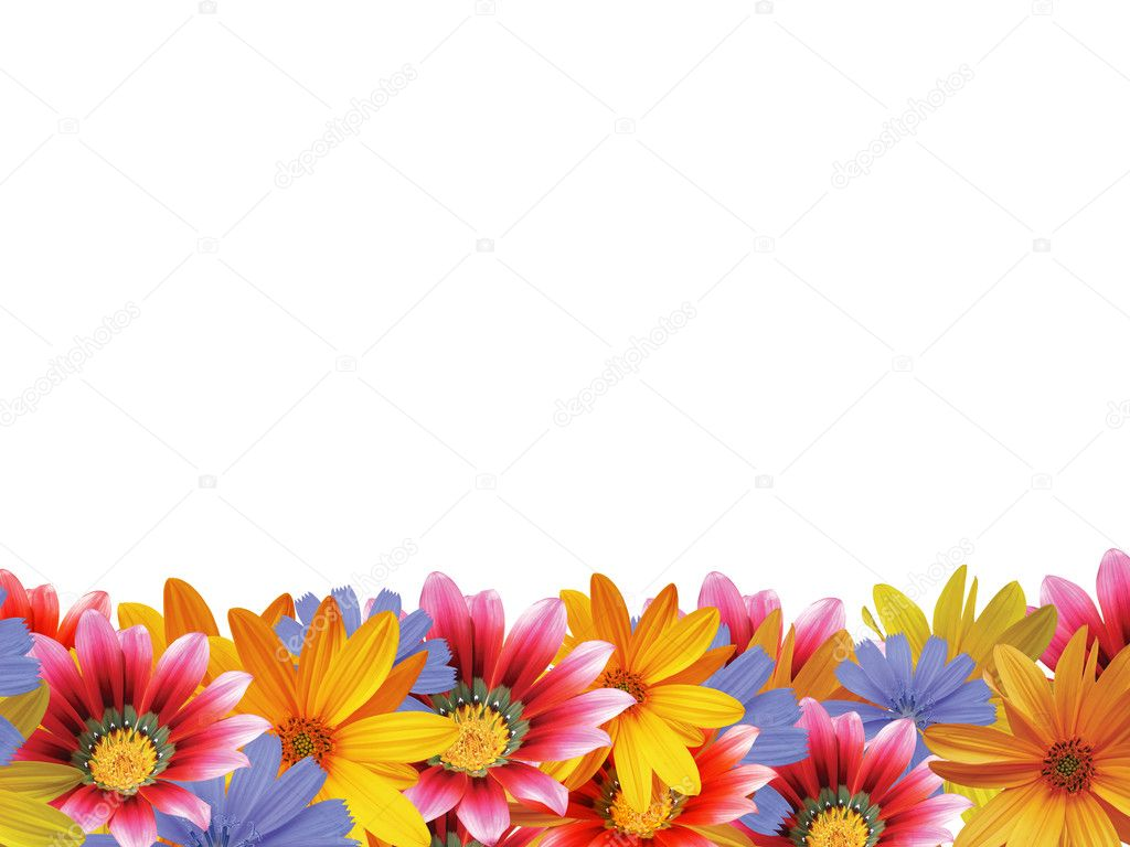 Flower frame with space for copy. — Stock Photo #2071423