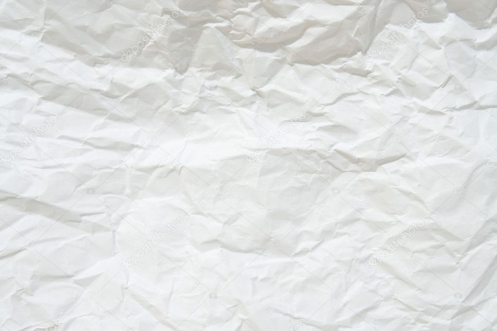 Blank white crumpled sheet paper. Texture background. — Stock Photo #2071462