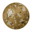 Gold disco ball — Stock Vector