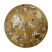 Gold disco ball — Stock Vector