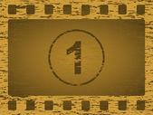 Gold grunge film strip — Stock Vector