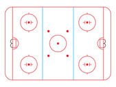 Hockey rink — Stock Vector