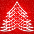 Stock Photo: Christmas tree red 2