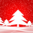 Winter background 2 red — Stock Photo
