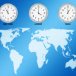 World map and clocks — Stock Photo #2134888