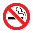 Stock Vector: No smoking sign