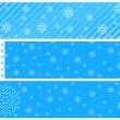 Snowflake vector baner backgrounds — Stock Vector