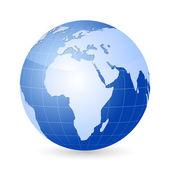 Vector world globe — Stock Vector