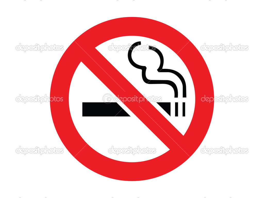 No smoking sign on a white background. Vector illustration. — Stock Vector #2195021