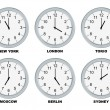 Business clocks — Stock Photo